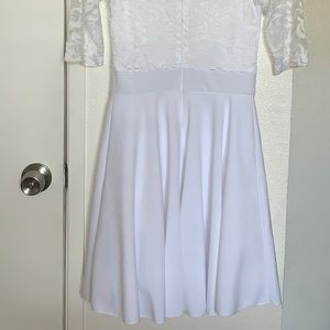 Simple white dress for any occasion